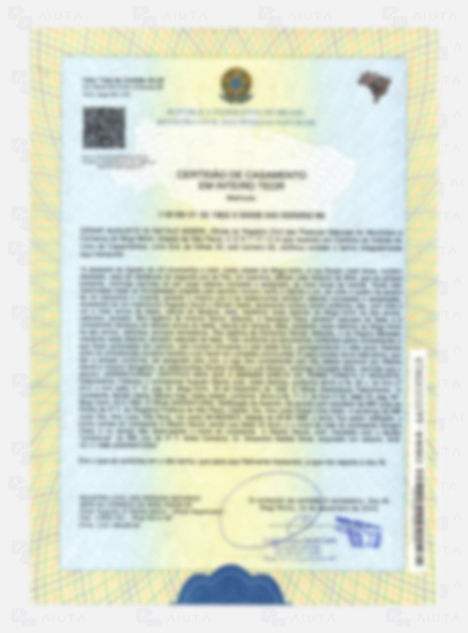Exemplo de custos para traduzir uma Certidão de Casamento - AIUTA