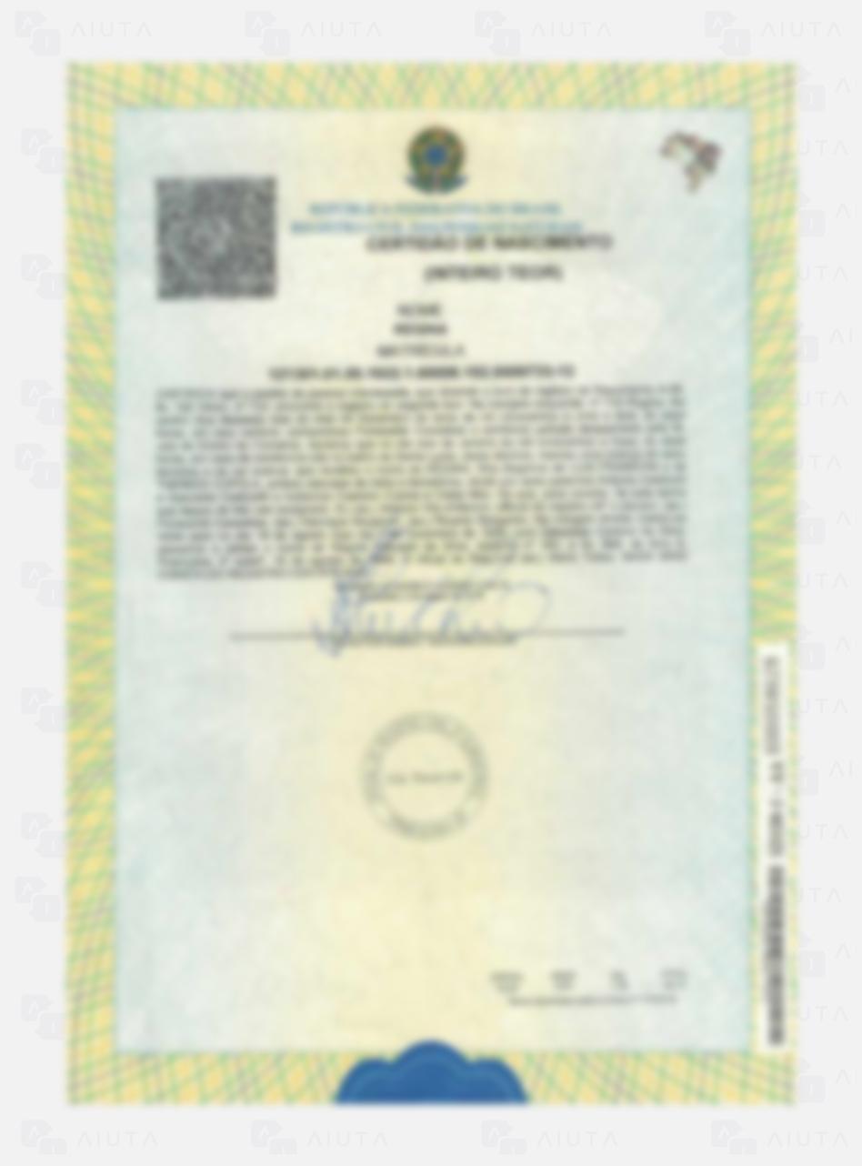 Exemplo de custos para traduzir uma Certidão de Nascimento - AIUTA