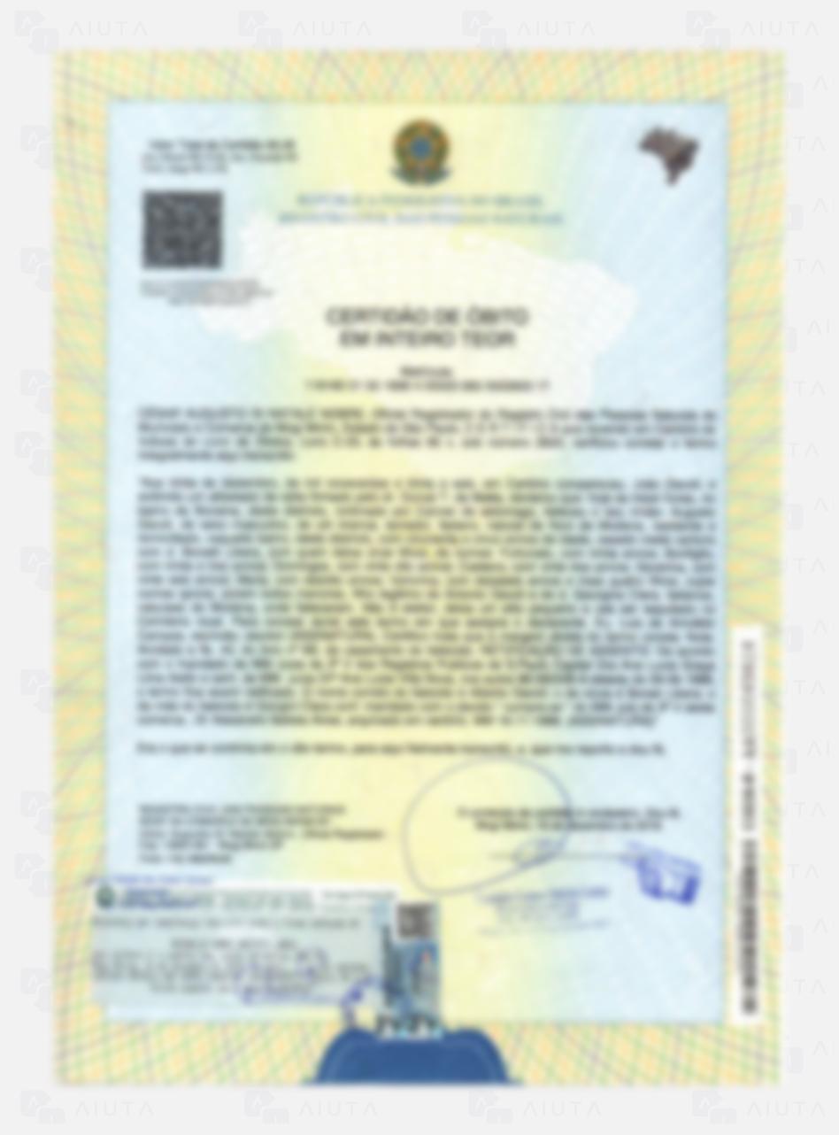 Exemplo de custos para traduzir uma Certidão de Óbito - AIUTA