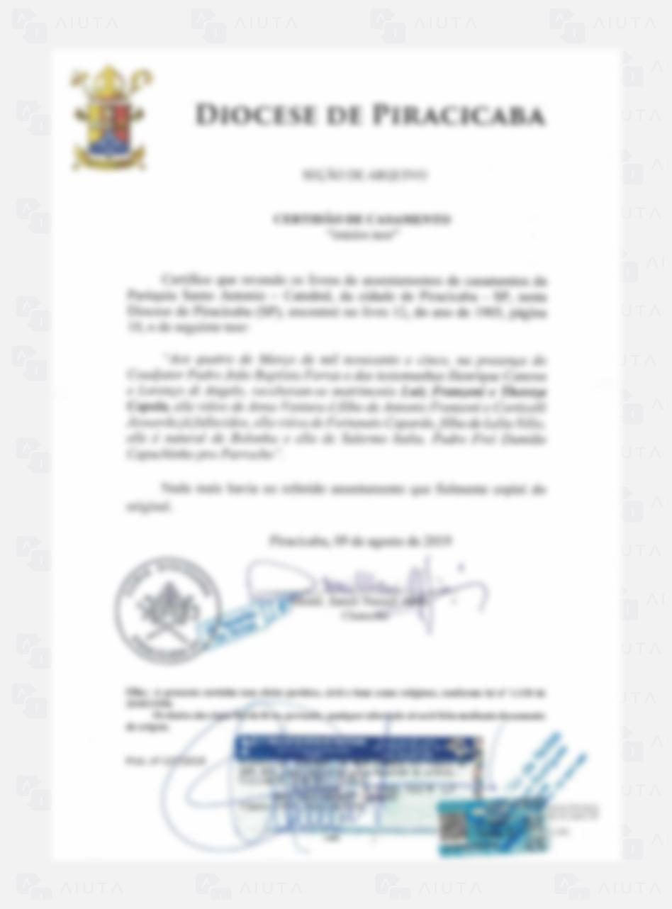 Exemplo de custos para traduzir um documento de Igreja - AIUTA