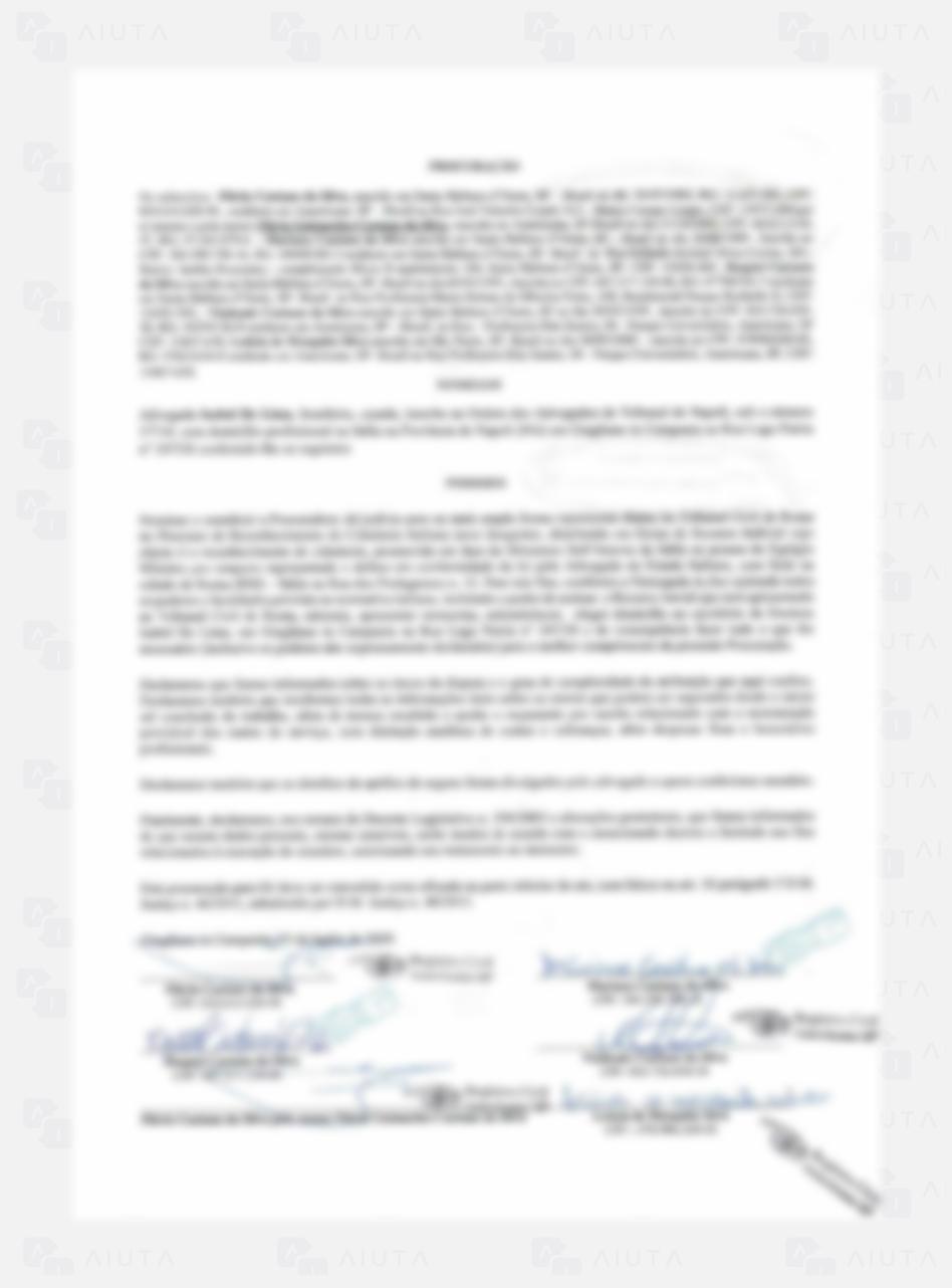 Exemplo de custos para traduzir um documento de Procuração - AIUTA